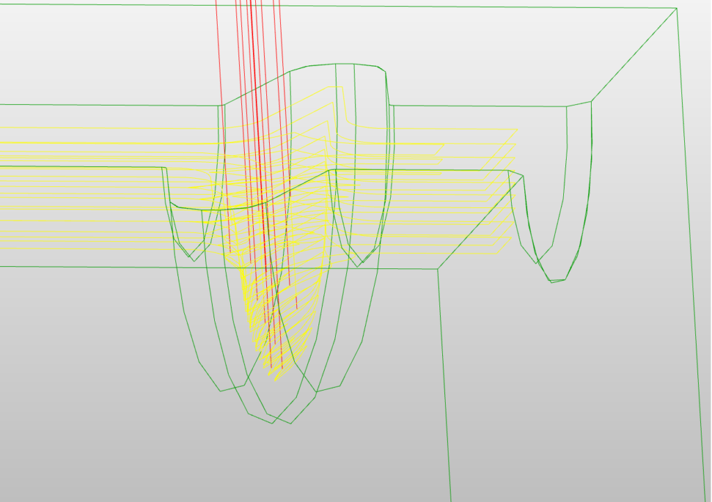 3次元加工のコンサル中で使ったCAMデータ画像