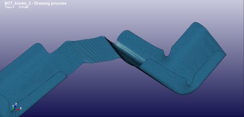 修正したブランク形状のフランジ曲げ後
