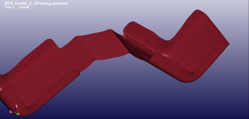 再度、修正したブランク形状の2工程目のアイソメ図