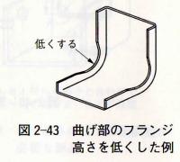 図2-43 曲げ部のフランジ高さを低くした例
