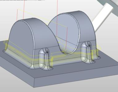 5軸加工を使った加工エリア
